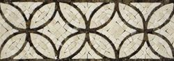Tiles - Circles Border- Crema - circles, border, crema