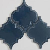 beveled arabesque white tile backsplash tile kitchen tile