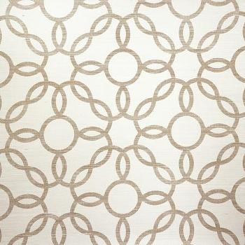 Wallpaper - Voyage Collection - Phillip Jeffries - rings, metallic, wallpaper