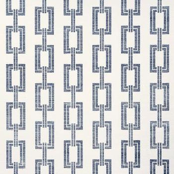 Wallpaper - Voyage Collection - Phillip Jeffries - chain link, navy, blue, wallpaper