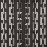 Wallpaper - Voyage Collection - Phillip Jeffries - chain links, black, metallic, wallpaper
