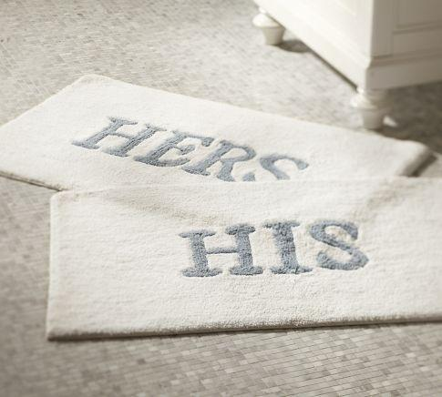 His Amp Hers Bath Mats Pottery Barn