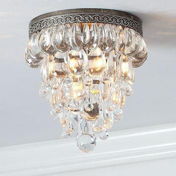 Lighting - Clarissa Glass Drop Flushmount | Pottery Barn - clarissa, glass drop, flushmount