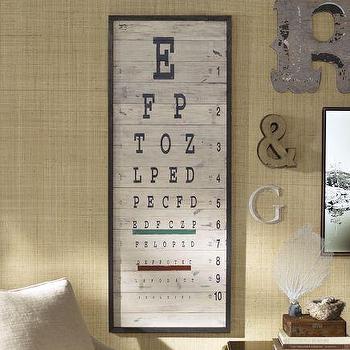 Eye Chart, Pottery Barn