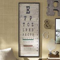 Art/Wall Decor - Eye Chart | Pottery Barn - eye, chart, art