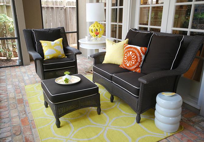 black wicker furniture contemporary deck patio sally