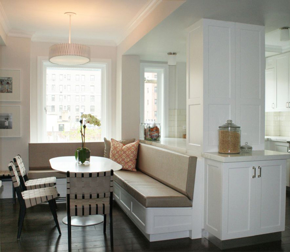 built in dining banquette contemporary dining room