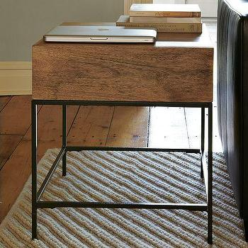 Rustic Storage Side Table, west elm