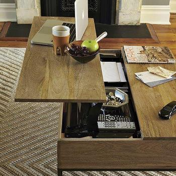 Tables - Rustic Storage Coffee Table | west elm - rustic, storage, coffee table