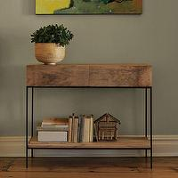 Tables - Rustic Storage Console | west elm - rustic, storage, console, table