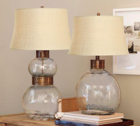 Lighting - Julian Glass Table & Bedside Lamp | Pottery Barn - julian, glass, lamps