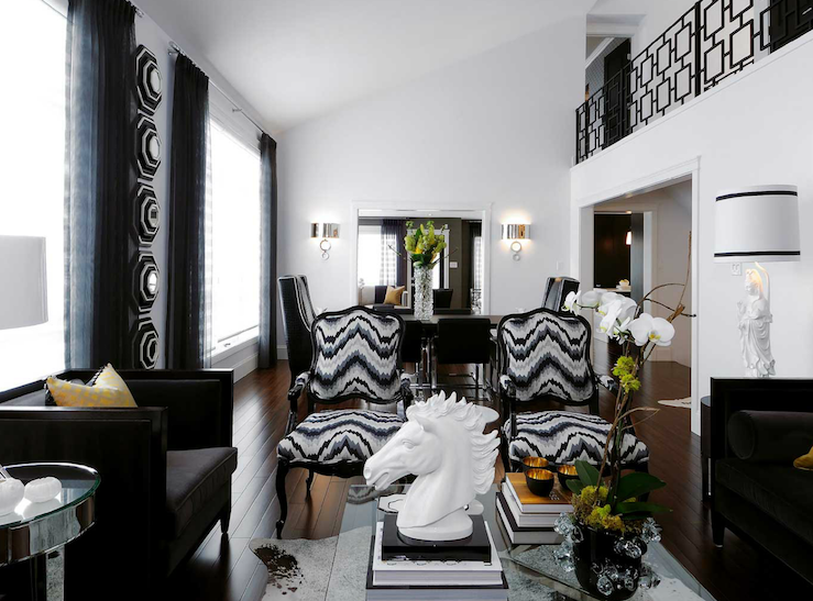 Kelly Wearstler Flair Noir Contemporary Living Room