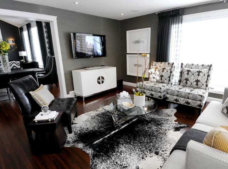 Gray Room Contemporary Living Atmosphere