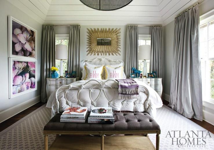Gray curtains contemporary bedroom atlanta homes - Curtain color for gray walls ...