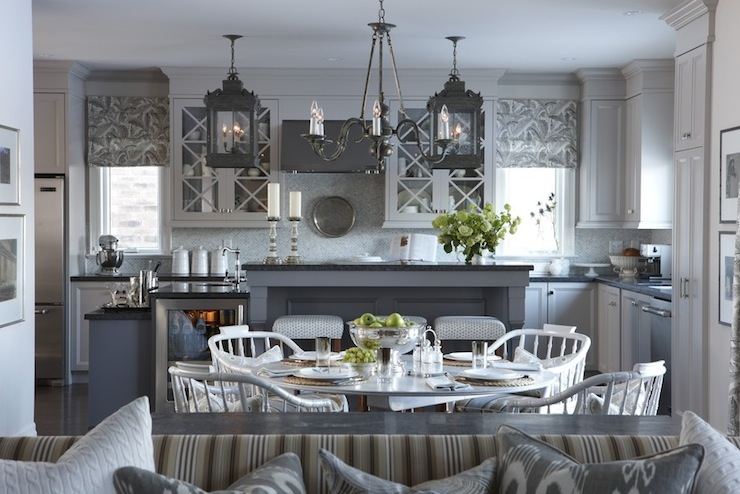 gray kitchen transitional kitchen para paints
