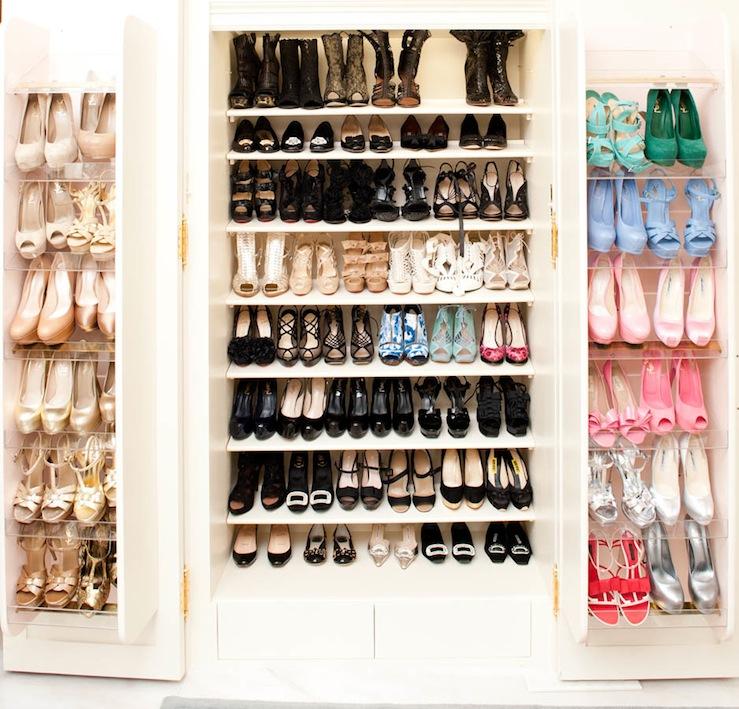 revolving shoe cabinet contemporary closet the coveteur. Black Bedroom Furniture Sets. Home Design Ideas