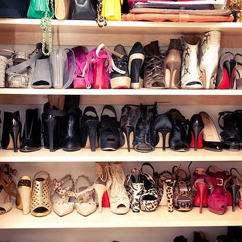 Shoe Shelves, Contemporary, closet, The Coveteur