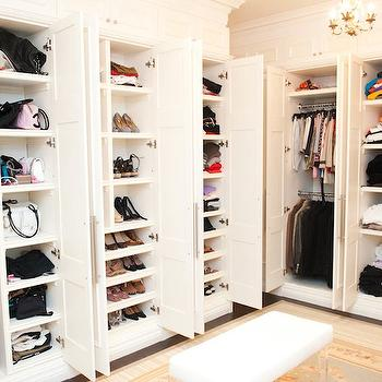 Pull Out Shoe Shelves Contemporary Closet A Divine