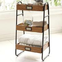 Bath - William Floor Storage | Pottery Barn - william, floor, storage