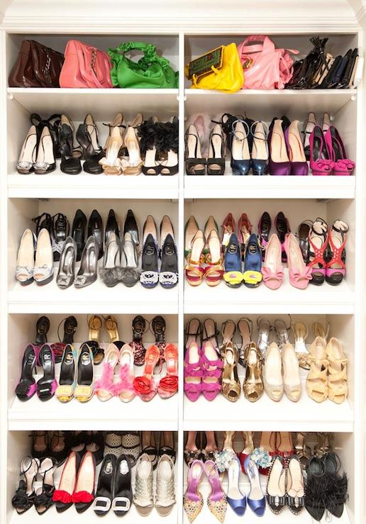 Shelves for Shoes- Contemporary, closet, The Coveteur