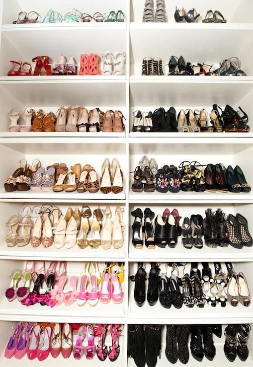 Shoe Shelves Contemporary Closet The Coveteur