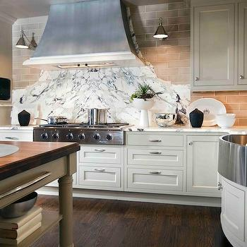 Curved Backsplash, Transitional, kitchen, Design Galleria