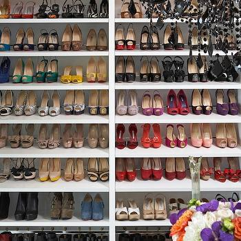 Shelves for Shoes, Contemporary, closet, LA Closet Design