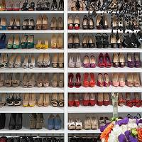 LA Closet Design - closets - shoe closet, black, crystal, chandelier, shoe cabinet, shoe cabinets, shoe shelves, shelves for shoes, shoe storage, shoe closet, closet shoe shelves, shoe racks, closet shoe racks,