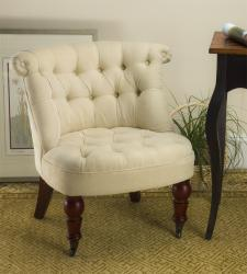 Seating - Somerset Pull-up Ivory Chair | Overstock.com - somerset, pull-up, chair, caster, legs