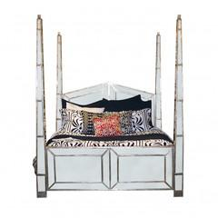 Beds/Headboards - Majesty Mirrored 4 Poster Bed | Vielle and Frances - majesty, mirrored, 4, poster, bed
