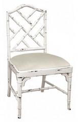 Seating - Martinique Bamboo Dining Chair | Vielle and Frances - white, faux bamboo, martinique, dining chair