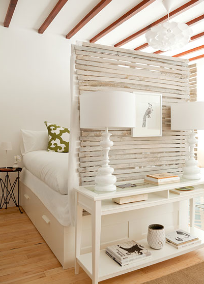 The Brooklyn Home Company - bedrooms - Ikea Brimnes Bed Frame with Drawers, wood beams, green, scroll, pillow, round, accordion, directoire, table, white, glass-top, console, table, white, lamps, ikea bed, ikea bed frame, room partition,