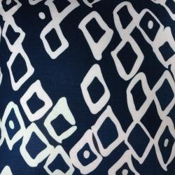 Fabrics - Zorah Navy on Snow - fabric, christen maxwell, navy, white