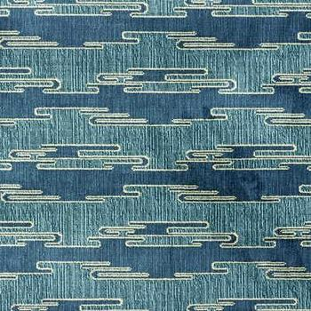 Sora Velvet, Aqua/Blue Indoor Upholstery Fabric, Fabric Copia