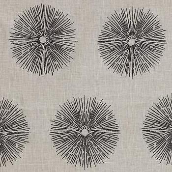 Fabrics - Sea Urchin - Ivory/Ebony Indoor Multipurpose Fabric - Fabric Copia - kelly wearstler, sea urchin, ivory, ebony, fabric