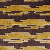 Fabrics - Sora Velvet - Oro/Bark Indoor Upholstery Fabric - Fabric Copia - kelly wearstler, sora velvet, oro, black, fabric