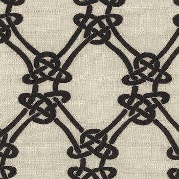 Fabrics - DecoratorsBest - Detail1 - Sch 2643920 - Gordian Weave - Ebony On Greige - Fabrics - DecoratorsBest - kelly wearstler, gordian weave, ebony, fabric