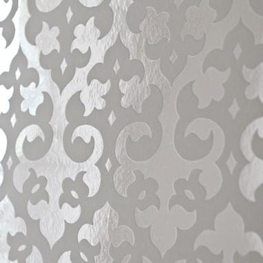 gothic flock foil wallpaper white brocade home