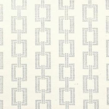 Wallpaper - DecoratorsBest - Detail1 - PJ 5161 - Chain Link - Metallic Silver on Ivory Manila Hemp - Wallpaper - DecoratorsBest - chin link, metallic, silver, wallpaper