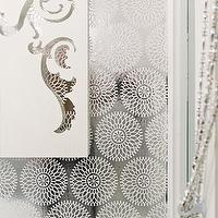 Wallpaper - circle foil wallpaper - white print - $9.00 : brocade home - metallic, foil, wallpaper