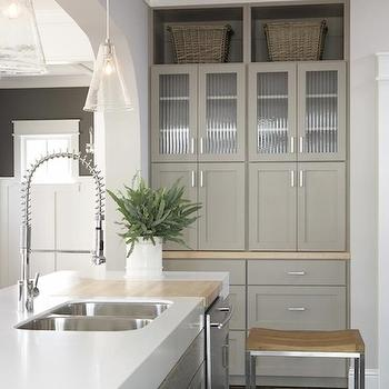Taupe Kitchen Cabinets, Contemporary, kitchen, Sherwin Williams Pavestone Gray, TerraCotta Properties