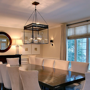 Black Dining Table and White Dining Chairs, Contemporary, dining room, Rachel Hazelton Interior Design