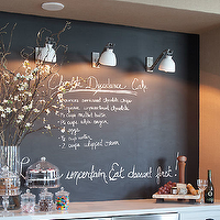 Urban Electric Co. - kitchens: chalkboard backsplash, cake stands, kitchen chalkboard backsplash, chalkboard wall, kitchen chalkboard wall, chalkboard, kitchen chalkboard, kitchen chalkboard ideas, chalkboard kitchen, chalkboard in kitchen, chalkboard message board, kitchen chalkboard message board,