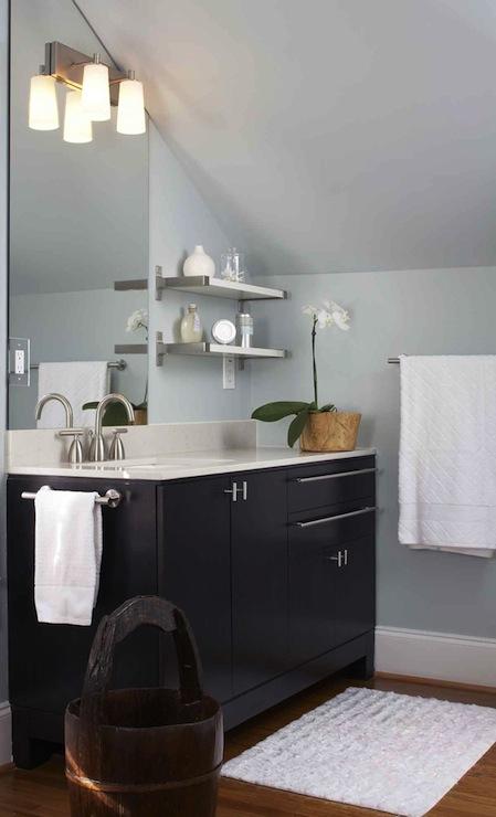 Attic Bathroom Contemporary Bathroom Terracotta