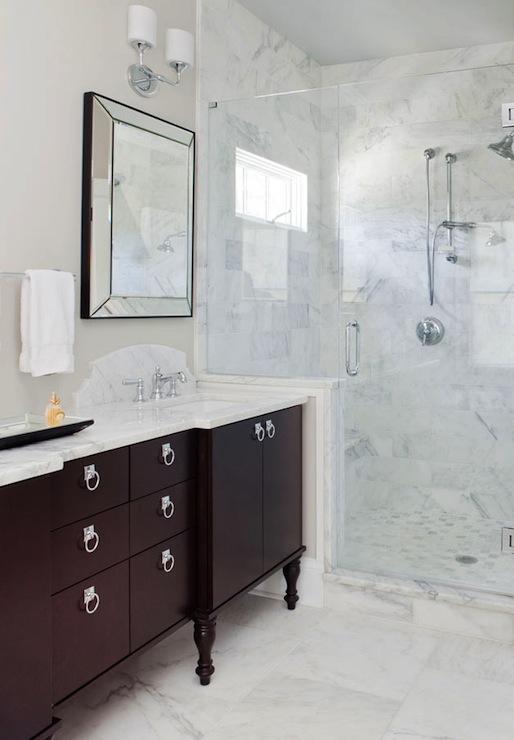Espresso Vanity Transitional Bathroom Terracotta