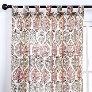 Batik Paisley Voile Curtain Curtains And Drapes World