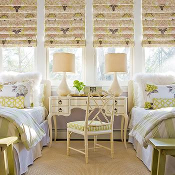Shared Girls Room, Cottage, girl's room, Katie Rosenfeld Design