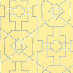 Wallpaper - Thibaut Spring Lake - Bamboo Lattice - Wallpaper - Yellow - thibaut, bamboo lattice, wallpaper, spring lake, yellow