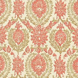 Fabrics - Thibaut Cypress - Haleema - Fabric - Red and Beige - haleema, cypress,, red, beige, fabric
