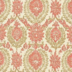 Thibaut Cypress, Haleema, Fabric, Red and Beige
